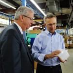 Senator Ted O'Brien and CY Plastics president Andrew Molodetz